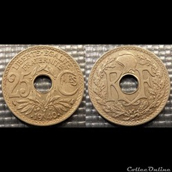Fe 25 centimes EM Lindauer .1940. 24mm 4g
