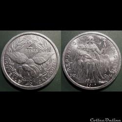 Nouvelle Calédonie 2 Francs 2017 IEOM