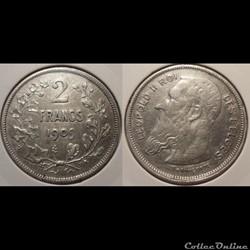 Belgique 2 Francs 1909 Des Belges