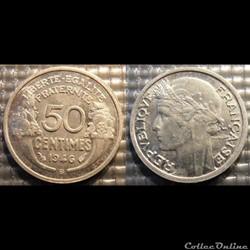 Ge 50 centimes Morlon 1946 B 18mm 0.7g