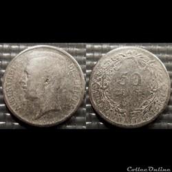 Belgique 50 Centimes 1910  Des Belges