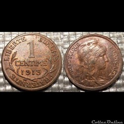 Aa 1 centime Dupuis 1913