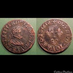 F10 Henri IV double tournois 1610 A Paris