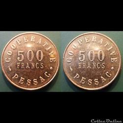 p- MN Pessac 500 Fr. Al absente du V.Gadoury et Elie