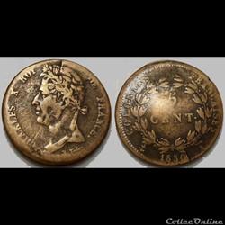 Colonies Générales 5 Centimes Charles X ...