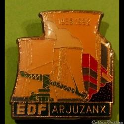 Pin's (40) Arjuzanx Centrale Thermique EDF