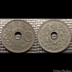 Ed 20 centimes EM Lindauer 1945 24mm 3g