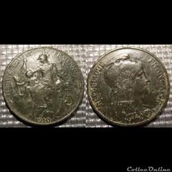 Ca 5 centimes Dupuis 1910