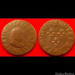 F10 Henri IV double tournois 1608 A Pari...