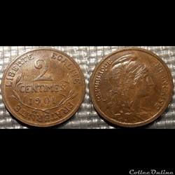 Ba 2 centimes Dupuis 1901