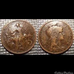 Ca 5 centimes Dupuis 1904