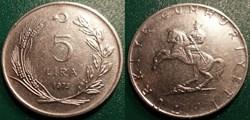 5 Lira 1975
