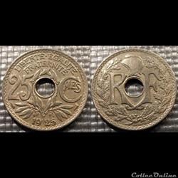 Fd 25 centimes EM Lindauer 1925 24mm 5g