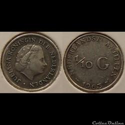 Antilles Néerlandaise 1/10 Guilder 1962