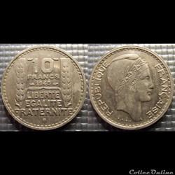 Ld 10 francs Turin petite tête 1948 B 26...