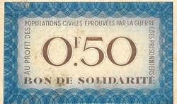 a0- Bon de solidarité 0F.50  Pétain