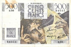 """500 Francs """"Chateaubriand"""" 1946"""