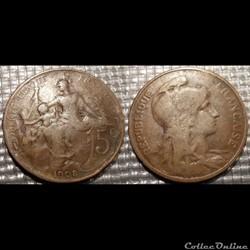 Ca 5 centimes Dupuis 1908