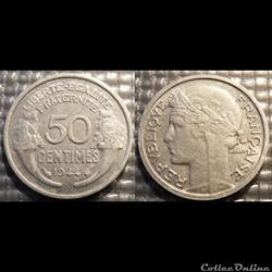 Ge 50 centimes Morlon 1944 18mm 0.7g