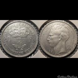 Belgique 20 Franc 1934 Royaume de Belgiq...