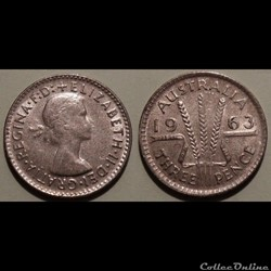 Australie 3 Pence 1963