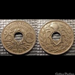 Fd 25 centimes EM Lindauer 1921 24mm 5g