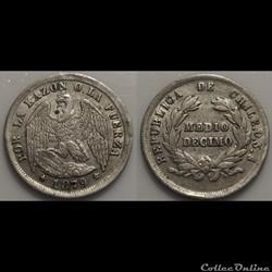 Chili 1/2Décime 1879