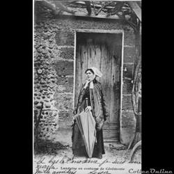 Carte Postale (40) Landaise en costume d...