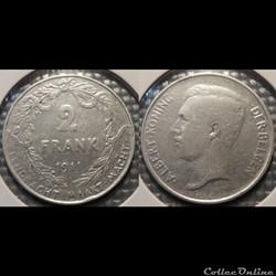 Belgique 2 Frank  1911  Der Belgen