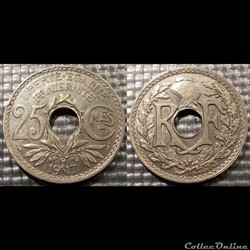 Fc 25 centimes EM Lindauer 1917 24mm 5g