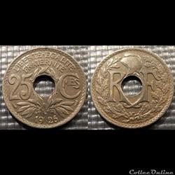 Fd 25 centimes EM Lindauer 1926 24mm 5g