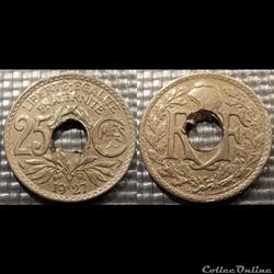 Fd 25 centimes EM Lindauer 1927 24mm 5g