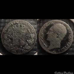 Belgique 20 Centimes 1852