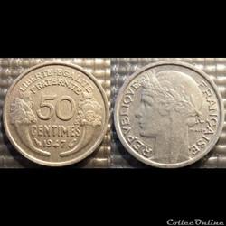 Ge 50 centimes Morlon 1947 18mm 0.7g