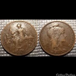 Ca 5 centimes Dupuis 1903