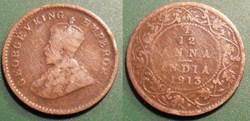 India British 1/12 Anna 1913