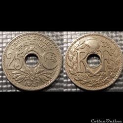 Fd 25 centimes EM Lindauer 1917 24mm 5g