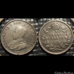 Canada 5 Cents 1911