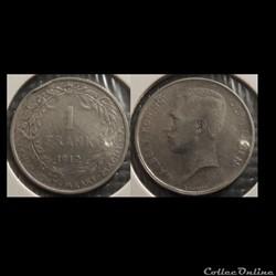 Belgique 1 Franc  1912  Der Belgen