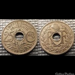 Fd 25 centimes EM Lindauer 1929 24mm 5g