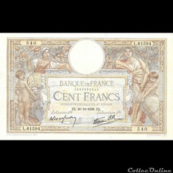 100 Francs Luc Olivier Merson