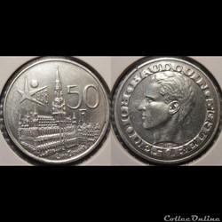 Belgique 50 Franc 1958 Des Belges