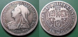 Grande Bretagne 1 Shilling 1895