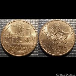 Lg 10 francs Mathieu 1977 26mm 10g