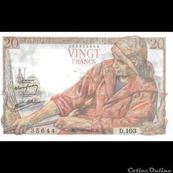 20 Francs Pêcheur