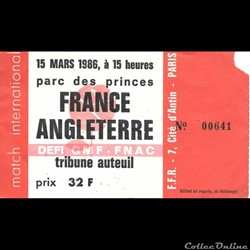 Rugby France Angleterre 1986