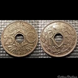 Fd 25 centimes EM Lindauer 1919 24mm 5g