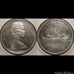 Canada 1 Dollar 1965