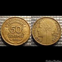 Gc 50 centimes Morlon 1932 18mm 2g