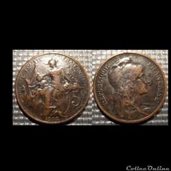 Ca 5 centimes Dupuis 1902